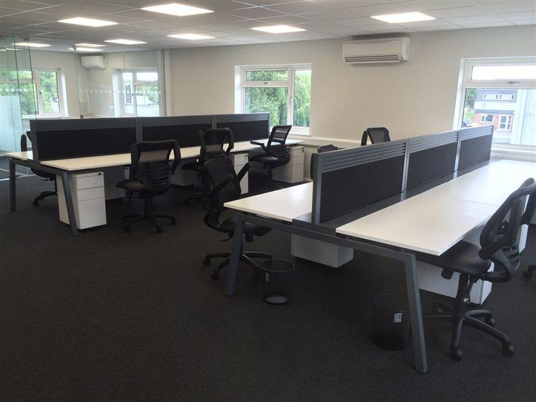 East Peckham Bench Desks With Mesh Chairs Installation - CK Office Furniture