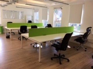 Second Hand White Bench Desk Installation - London - CK Office Furniture