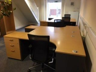 Swanley Office Furniture Installation - Used Radial Desks & Chairs