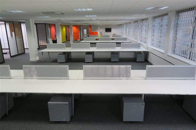 Used Bench Desk Installation - Orpington - CK Office Furniture