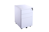CK White Metal Pedestal Drawer Units