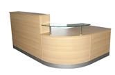 CK Reception Desk - Light Oak