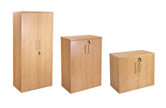 CK Executive Stationery Cupboards - Crown Cut Oak