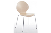 Set Of 4 Round Back Cafe Chairs