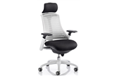 Flexi White Operator Chair With Headrest