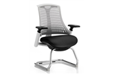 Flexi White Cantilever Chair