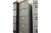 Second Hand Roneo Executive 4 Drawer In Light Grey CKU1400