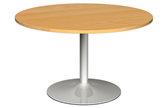 Circular Meeting Tables With Trumpet Base