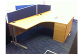 1600 X 1200 RADIAL DESK OAK CKU1610