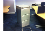 USED 3 DRAWER FILING CABINETS IN GREY BISLEY CKU1611