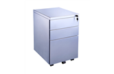 CK Silver Metal Pedestal Drawer Units