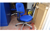 Used Operator Chair In Blue With Chrome Base CKU1653
