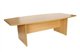 CK 2.4m Boat-Shaped Boardroom Table (Various Colours)