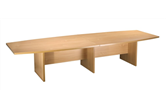 CK 3.6m Boat-Shaped Boardroom Table (Various Colours)