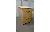 Used 2 Drawer Mobile Pedestal with Filing Draws Beech CKU1806