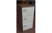 Used Triumph Trilogy Exec Coffee & Cream 3 Drawer Filing Cabinet CKU1833