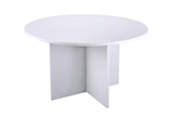 CK 1200 Diameter White Round Meeting Table