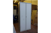 Used 2200mm High Bisley Tambour in Light Grey CKU1847