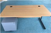 Second Hand 1600 Beech Desk with 2 Drawer Pedestal CKU1895