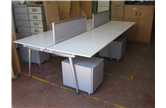 Herman Miller Abak 1600 White Bench Desk With Drawers CKU1921