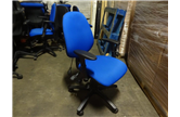 Used Blue Operator Chair with Adjustable Arms CKU1935