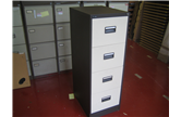Used Royale 4 Drawer Filing Cabinet Coffee/Cream CKU1941