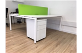 Second Hand 1600 White Bench DeskCKU1980