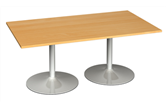 Rectangular Boardroom Table With Trumpet Bases