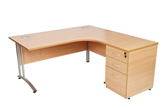 CK Radial Desks With Cantilever Legs