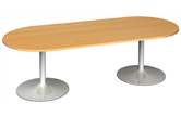 D-End Boardroom Table With Trumpet Bases