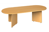 D-End Boardroom Table With Arrow Head Leg Base