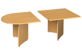 D-End Sectional Boardroom Table With Arrow Head Legs