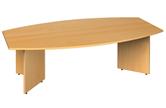 2.4m Boat-Shaped Boardroom Table With Arrow Head Legs