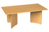 Rectangular Boardroom Table With Arrow Head Legs
