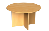 Circular Meeting Tables With Arrow Head Base