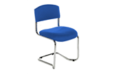 CS Chrome Cantilever Stacking Chair