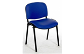 Flipper Stacking Chair - Black Frame