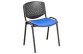 F3 Flipper Stacking Chair With Perforated Back