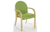 LENNOX Rounded Woodframe Armchair