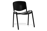 ISO Black Plastic Stacking Chair