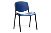 ISO Blue Plastic Stacking Chair