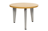 CK 600mm Round Coffee Table With Silver Spider Legs
