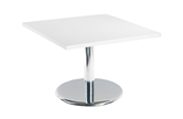 Square Coffee Table With Silver Trumpet Base
