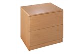 Metro Deluxe Wooden Office 2-Drawer Side Filing Cabinet