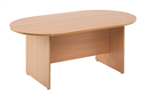 2.4m D-End Meeting Table