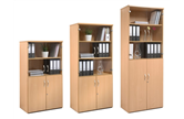 Metro Combination Bookcase Cupboards With Glass Doors