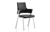 Enterprise Visitor Chair - Black Leather