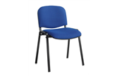 Set of 4 ISO Stacking Chairs With Black Frames