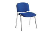 Set of 4 ISO Stacking Chairs With Chrome Frames