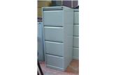Used Bisley 4 Drawer Executive Filing Cabinet in Light Grey CKU1256